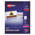 Avery Laser Business Cards, 2 x 3 1/2, White, 10 Cards/Sheet, 2500 Cards per Box