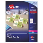 Avery Small Tent Card, Ivory, 2 x 3 1/2, 4 Cards/Sheet, 160/Box