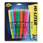 Avery Retractable Highlighters, Ten Color Set, Pen Style, Chisel Tip