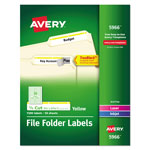Avery Permanent Self Adhesive Laser/Ink Jet File Folder Labels, 1500 per Pack, Yellow Border