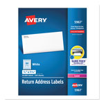 "Avery Permanent Adhesive Mailing Labels, 1/2"" x 1 3/4"""
