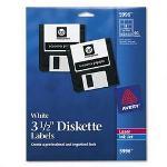"Avery Laser/Ink Jet Printer 3.5"" Diskette Labels, 90 White Labels per Pack"
