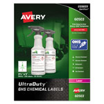 Avery GHS Chemical Labels, 3 1/2 x 5, White, 200/Box