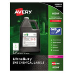 Avery GHS Chemical Labels, 4 x 4, White, 200/Box