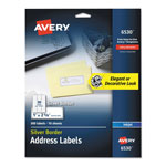 Avery Easy Peel Address Labels w/ Border, Silver, 1 x 2 5/8, 30/Sheet, 10 Sheets/Pack