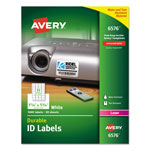 "Avery Permanent White Durable I.D. Labels for Laser Printers, 1 1/4""x1 3/4"", 1600 per Pack"