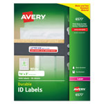 "Avery Permanent White Durable I.D. Labels for Laser Printers, 5/8""x3"", 1600 per Pack"