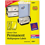 "Avery Permanent I.D. Labels, 2""x2 5/8"", Clear, 150 per Pack"