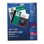 Avery CD/DVD White Matte Jewel Case Inserts for Color Laser Printers, 15/Pack