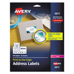 Avery White Laser Labels for Color Printing, 1 1/4 x 2 3/8 Label, 450 Labels/Pack