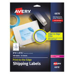 "Avery White Laser Labels for Color Printing, 3 3/4""x4 3/4"", 100 per Pack"