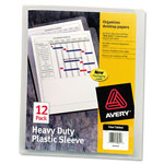 Avery Heavy Duty Thumb Notched Poly Plastic Sleeves, Clear, Letter Size, 12 per Pack
