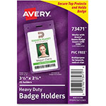 Avery Badge Holder, Heavy-Duty, Portrait, 25/PK, CL