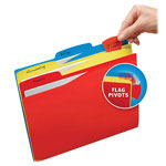 Avery Priority Flag File Folders, Assorted
