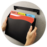 Avery Cubicle Wall File Pocket, Black