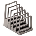 Avery Adjustable File Rack, Five Sections, Gray