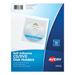 Avery 73721 Self Adhesive Zip® Disk, CD or DVD Pockets
