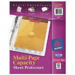 Avery Diamond Clear Multi-Page Capacity Sheet Protectors, Acid Free, Pack of 10