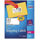 "Avery Shipping Labels with TrueBlock Technology, 2""x4"", White, 1250 per Pack"