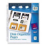 Avery Disk Organizer Pages, Acid Free, Pack of 10