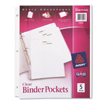 Avery Binder Pockets, Clear