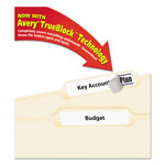 Avery Permanent Self Adhesive Laser/Inkjet File Folder Labels, White, 1800 per Pack
