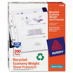 Avery Recycled Economy Weight Sheet Protectors, Acid-Free, Box of 200