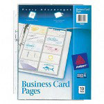 "Avery Non Stick Business Card Pages, 10 Pages, 8 1/2""x11"", Clear"