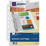 "Avery Business Card Binder Pages, 8 2""x3 1/2"" Cards/Page"