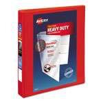 "Avery Heavy-Duty View Binder with One Touch EZD Rings, 1 1/2"" Capacity, Red"