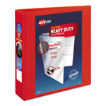 "Avery Heavy-Duty View Binder with One Touch EZD Rings, 2"" Capacity, Red"