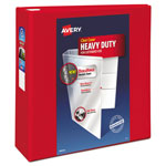 "Avery Heavy-Duty View Binder with One Touch EZD Rings, 4"" Capacity, Red"