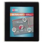 "Avery UltraLast View Binder w/1-Touch Slant Rings, 11 x 8 1/2, 1"" Cap, Black"