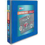 "Avery UltraLast View Binder w/1-Touch Slant Rings, 11 x 8 1/2, 1 1/2"" Cap, Blue"