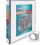 "Avery UltraLast View Binder w/1-Touch Slant Rings, 11 x 8 1/2, 1 1/2"" Cap, White"