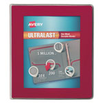 "Avery UltraLast View Binder w/1-Touch Slant Rings, 11 x 8 1/2, 1"" Cap, Red"