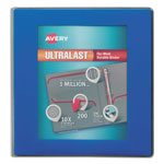 "Avery View Binder w/ Pockets, One Touch Ring, 1"" Cap., Blue"