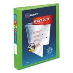 "Avery Heavy-Duty View Binder w/Locking EZD Rings, 1"" Cap, Chartreuse"