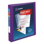 "Avery Heavy-Duty View Binder w/Locking EZD Rings, 1"" Cap, Purple"