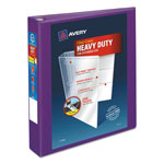 "Avery Heavy-Duty View Binder w/Locking EZD Rings, 1 1/2"" Cap, Purple"