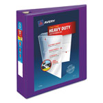 "Avery Heavy-Duty View Binder w/Locking EZD Rings, 2"" Cap, Purple"