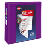 "Avery Heavy-Duty View Binder w/Locking EZD Rings, 4"" Cap, Purple"