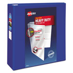 "Avery Heavy-Duty View Binder w/Locking EZD Rings, 4"" Cap, Pacific Blue"