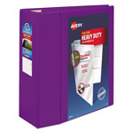 "Avery Heavy-Duty View Binder w/Locking EZD Rings, 5"" Cap, Purple"
