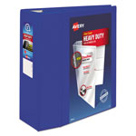 "Avery Heavy-Duty View Binder w/Locking EZD Rings, 5"" Cap, Pacific Blue"