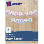 "Avery Matte Party Banner 3-4/5"" x 4-5/16"", 20/PK, WE"