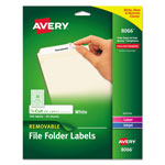 Avery Removable Ink Jet/Laser File Folder Labels, 750 per Pack, White