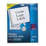 Avery White Ink Jet Mailing Labels, 8 1/2 x 11, 25 per Pack