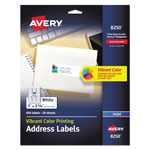 Avery Matte White Ink Jet Labels, 1 x 2 5/8, 600 per Pack