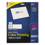 Avery Matte White Ink Jet Labels, 1 1/3 x 4, 280 per Pack